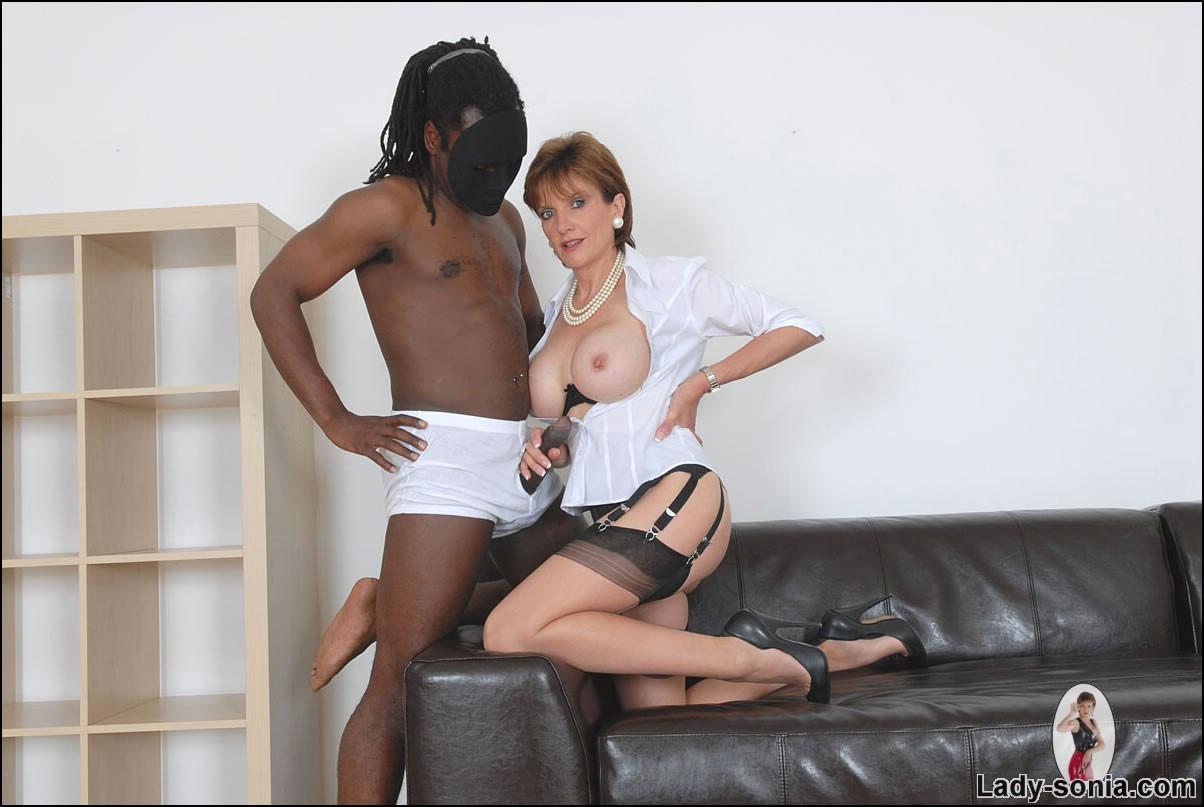 English milf taking black cock