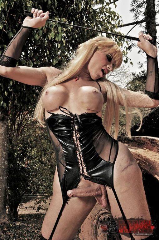 TS Mistress Posing Outdoors