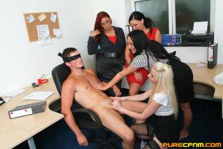 Office Cfnm Handjob