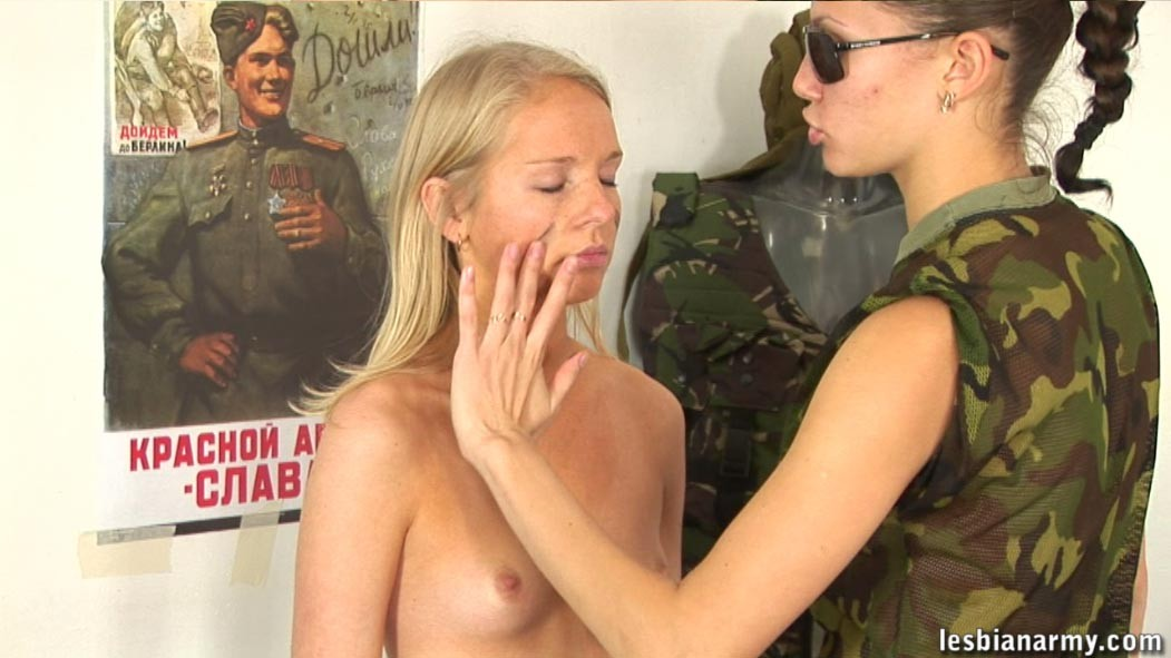 Naked military lesbians think