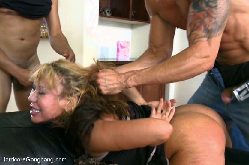 German Blonde Milf Gangbang
