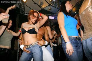 Horny party girls go crazy for big cocks