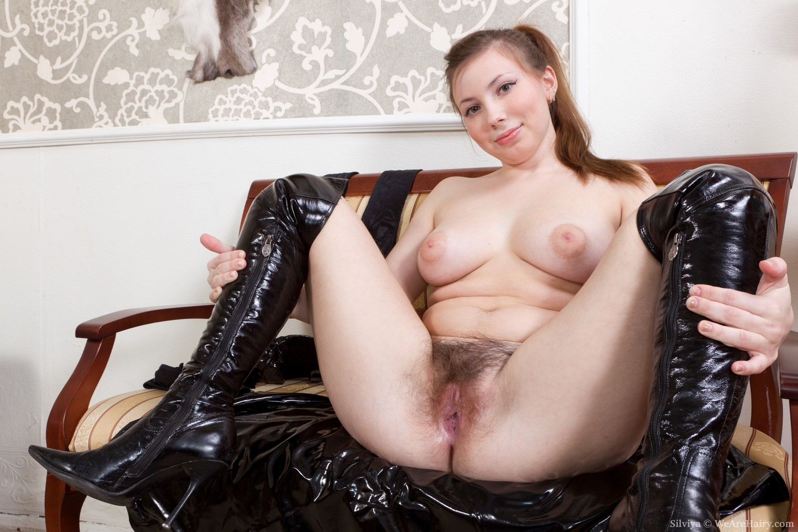 Rubber pussy fucking