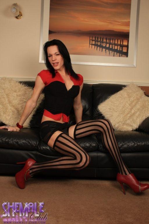 Stunning transsexual Jonelle Brooks posing