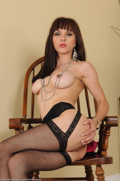 Hot horny milf in lingerie