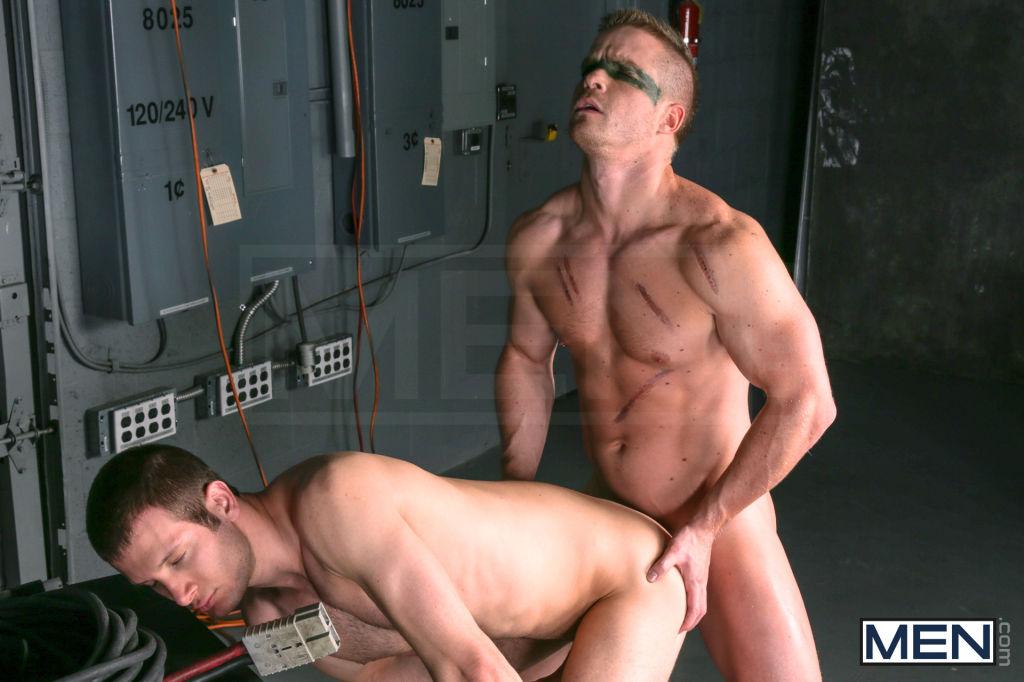 Gay porn parody featuring cock loving power bottom