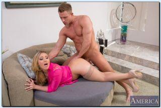 AJ Applegate gets banged in her cute pink top