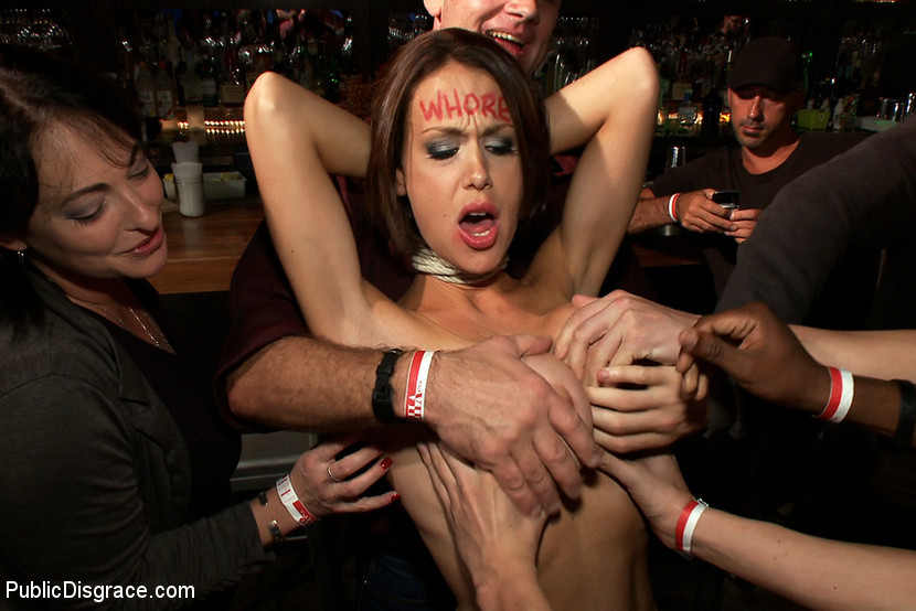 Big Tits Public Flashing
