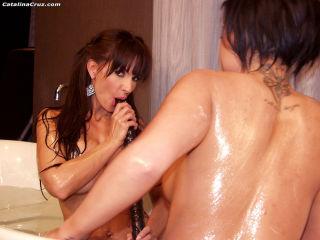 Catalina Cruz and Eva Angelina take a hot lesbian