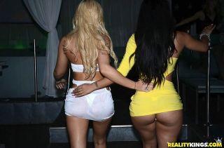 Drunk girl Charli Shiin fucking in wild club orgy