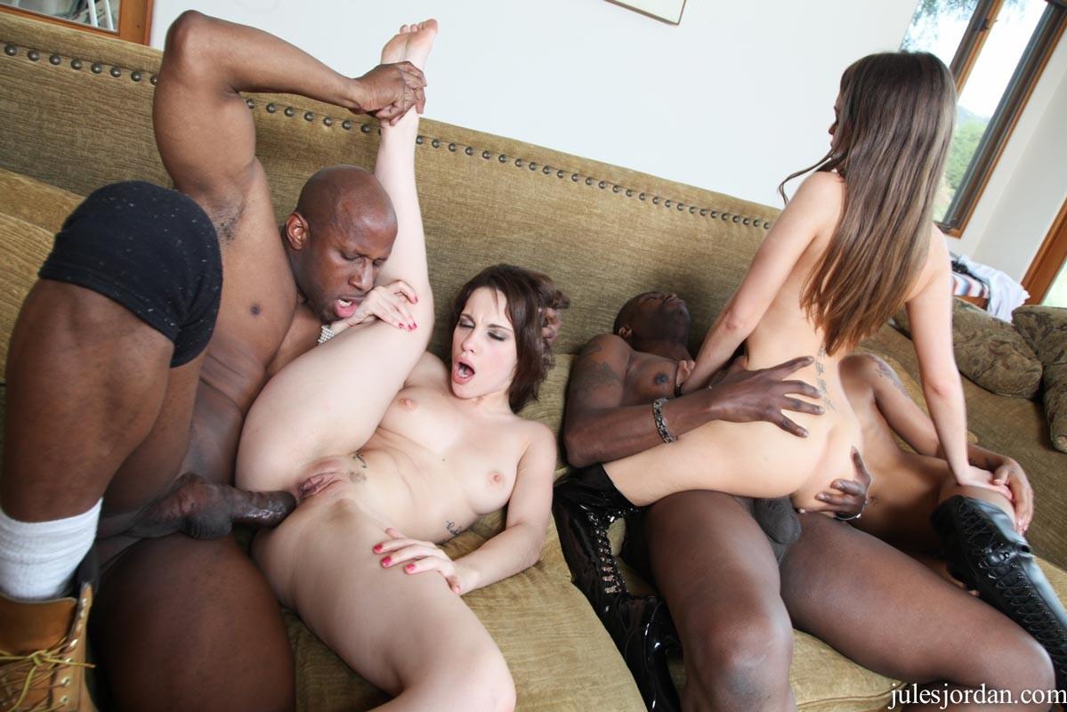 Mature Interracial Anal Orgy