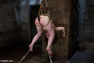 Sarah gets subjected to classic HogTied.com bondag