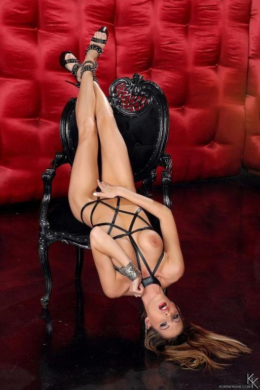 Kortney Kane wearing dangeoursly sexy black leathe