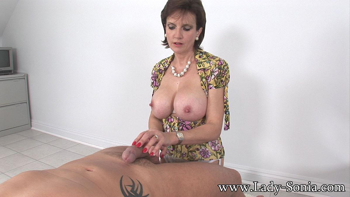 ... sexy Lady Sonia big tits hand job