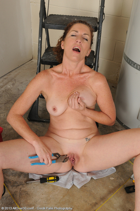 Granny milf at work