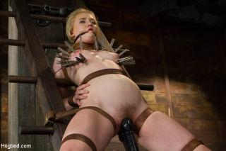 Tracey Sweet schoolgirl is rope bound her bdsm lim