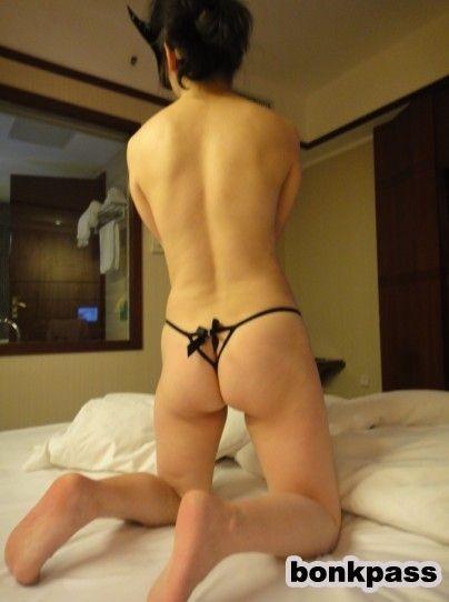 Asian wife nude bedroom