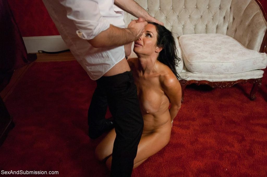 Rough bondage sex storyline feature with anal MILF