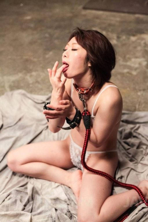 Rio Kagawa Asian in leash sucks boners and gets cu