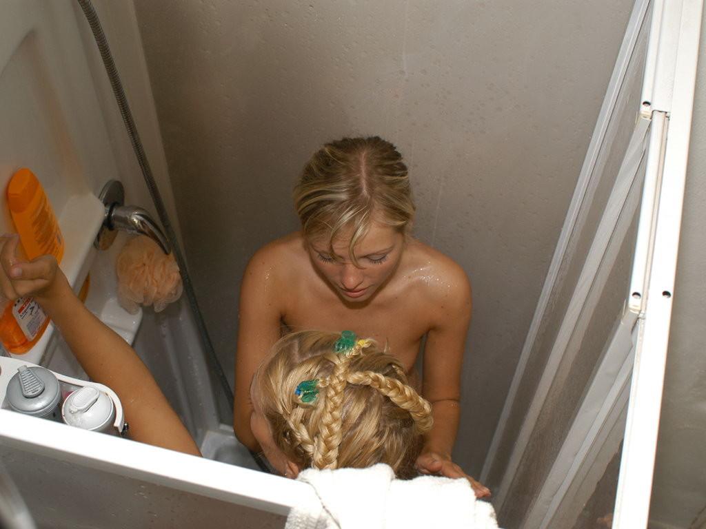 hidden cameras shower Lesbian