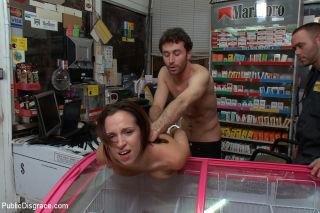 Public Sex. Perfect Ass. Gas Station. Handcuffs. H