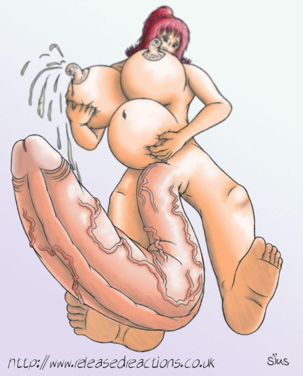Futa hermaphrodite self cumshot