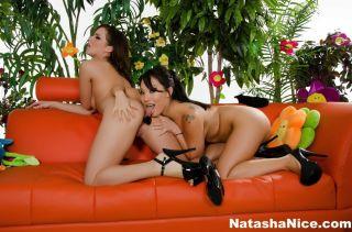 Watch Natasha Nice do her first anal with the help
