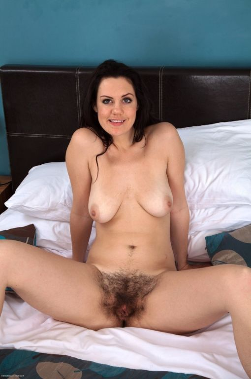 Busty hairy amateur Melissa stripping and spreadin