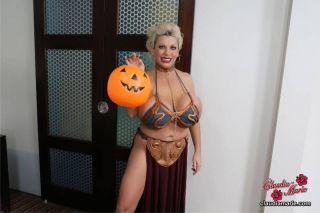 Big fake tit slut POV on Halloween with Slutty bab