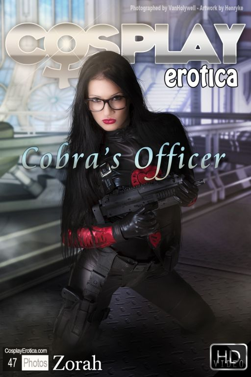 Zorah looking hot as Baroness with glasses a gun a