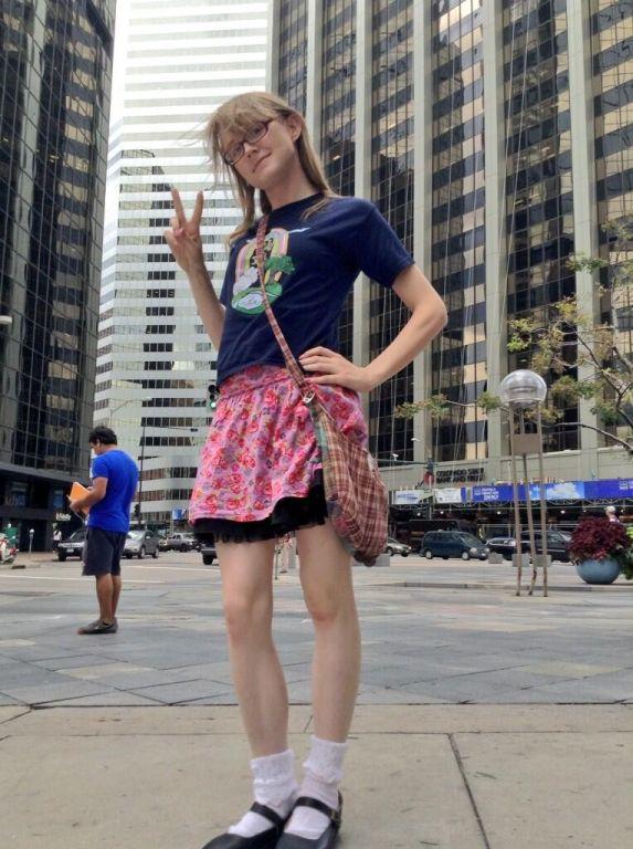 Cute redhead teen transgirl Sadie Hawkins in rando