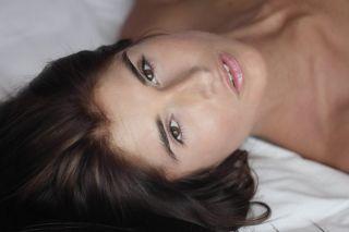 Perfectly pink model Katrina masturbating in her b