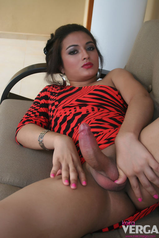 Keira Verga Showing Off Her Stiff Dick