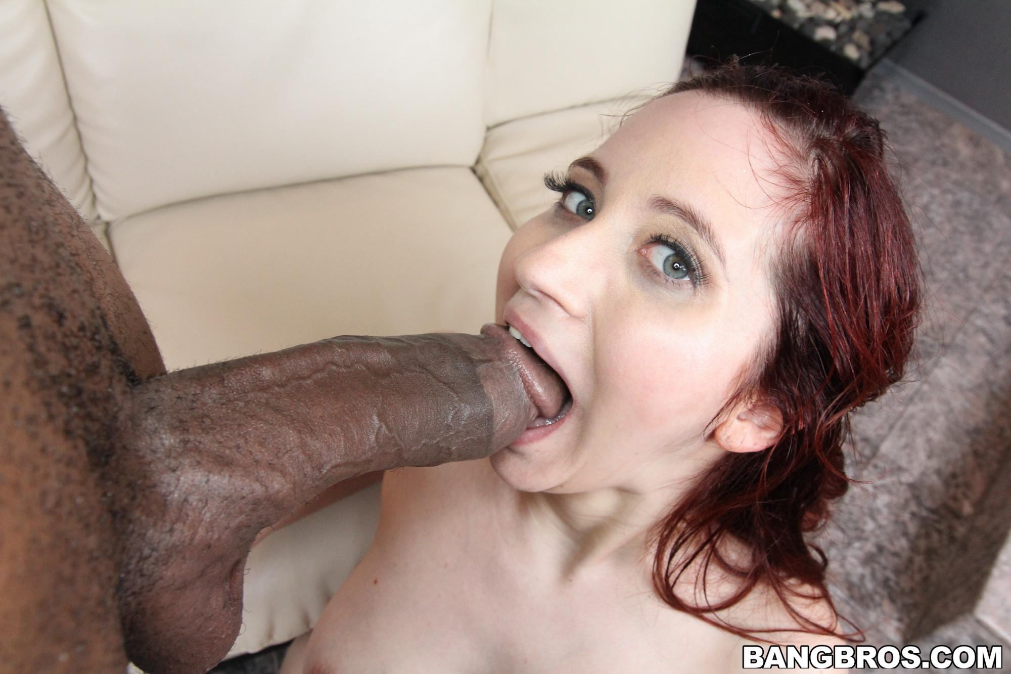 Sucking black monster cock
