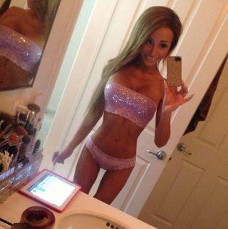 Super skinny and fit ladyboy Madison Nicole in ama
