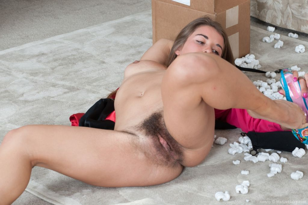Bunny unboxes toys and masturbates very sexy