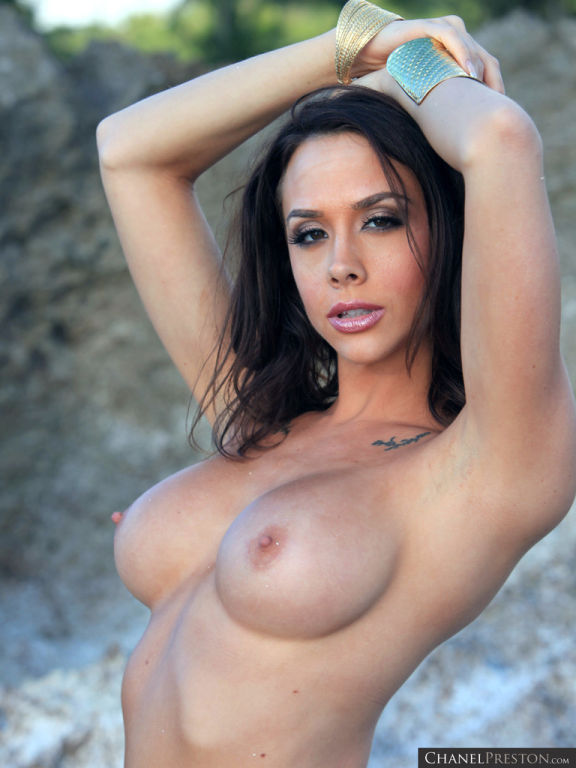 Chanel Preston masturbating nude on the beach