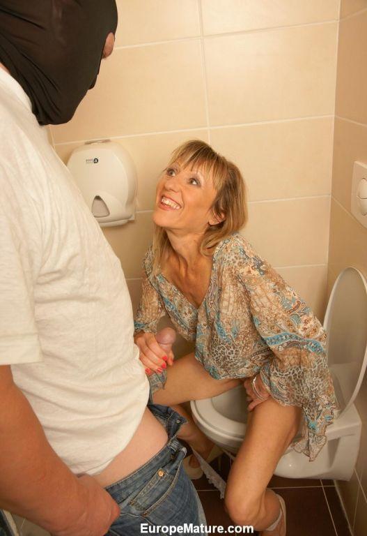 women on toilet