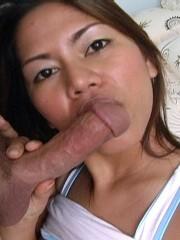 Thai bar girl Aom has her perfect Asian tits fucke