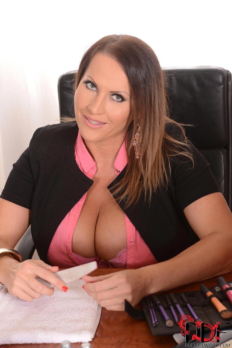 Busty office girls