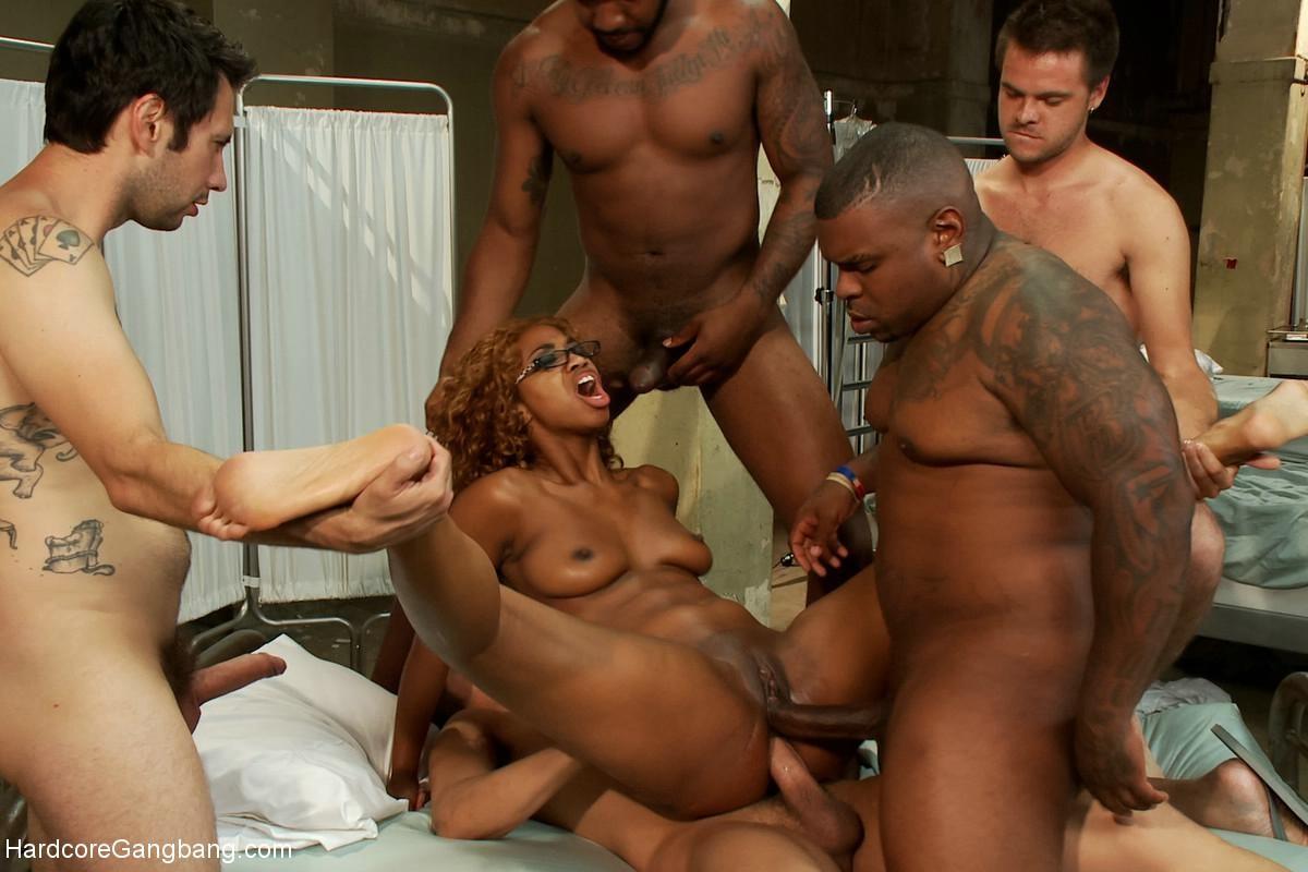 Ebony Big Butt Gangbang