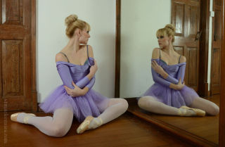 Miss Du Bois is practicing for her next ballet les