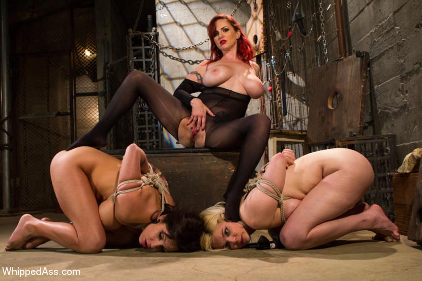 Busty lesbian bondage