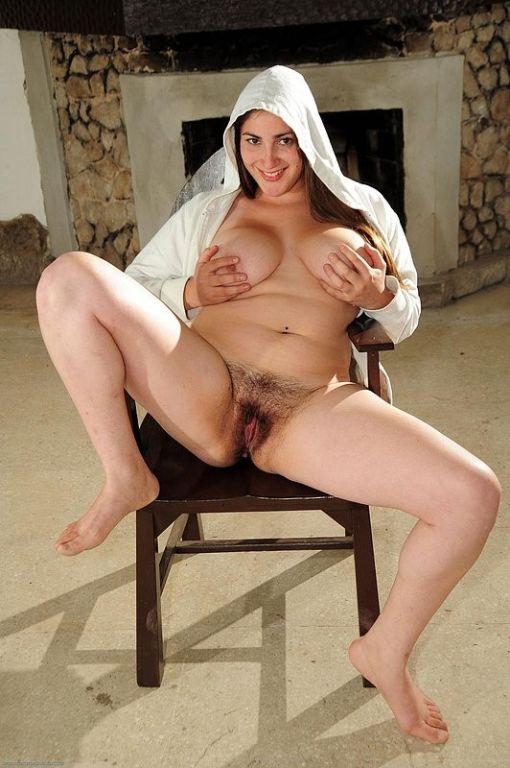 Hairy arab wife posing and masturbating