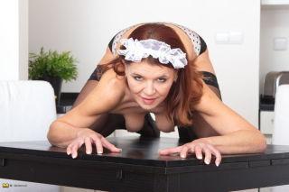 Mature housemaid feeling horny at work