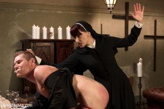 Sadistic & sexy nun seeks retribution on perve