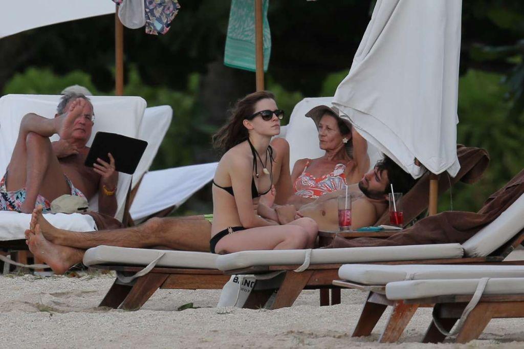 Emma Watson cute in bikini being caught with boyfr