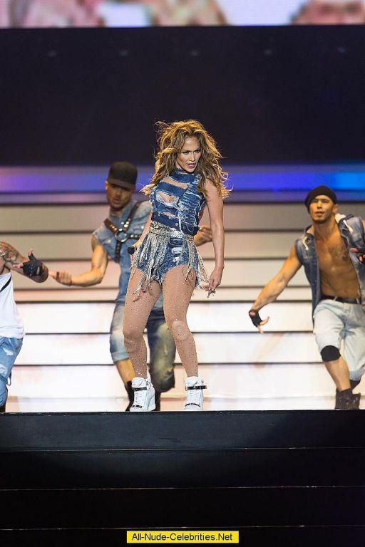 Jennifer Lopez in very sexy dress on stage