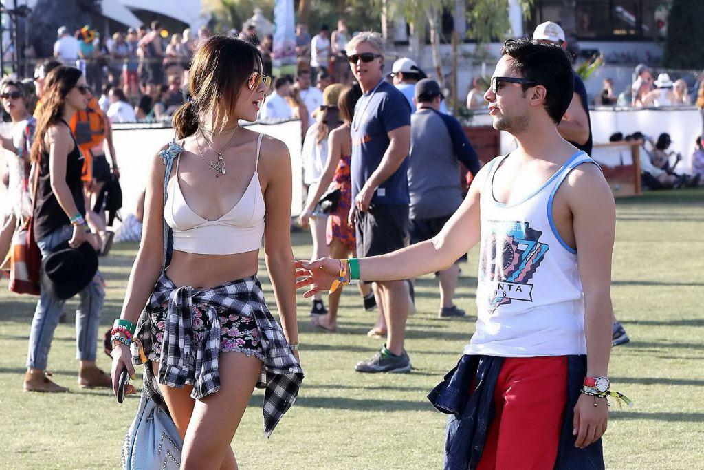 Eiza Gonzalez cleavy and leggy during 2014 Coachel