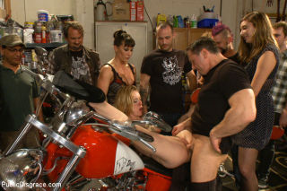 Pounded in a biker bar First ever boygirl scene